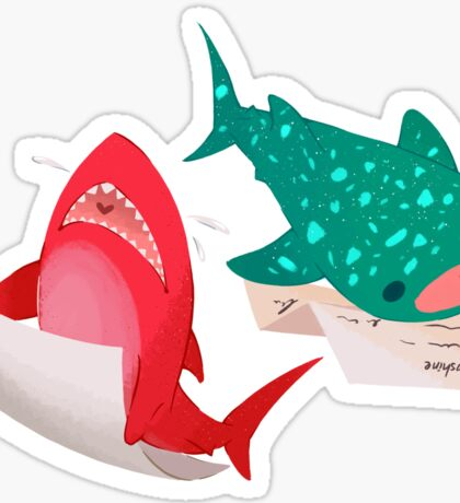 Shark & Whale Shark Mail Sticker