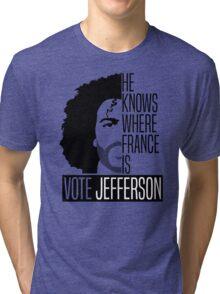 Vote For Jefferson Tri-blend T-Shirt