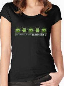 Official  Monkeys Fighting Robots 2016 Shirt Women's Fitted Scoop T-Shirt