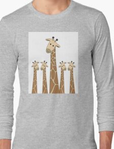 GIRAFFE PORTRAITS Long Sleeve T-Shirt