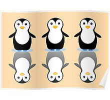 THREE PENGUINS ON ICE Poster