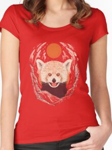 Red Panda on a Sunny Day Women's Fitted Scoop T-Shirt