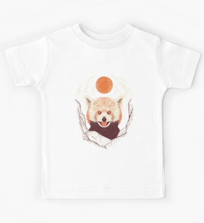 Red Panda on a Sunny Day Kids Tee