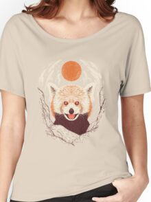 Red Panda on a Sunny Day Women's Relaxed Fit T-Shirt