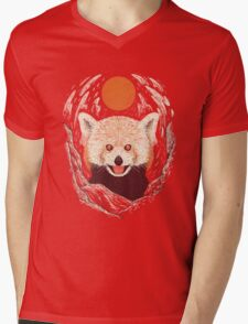Red Panda on a Sunny Day Mens V-Neck T-Shirt