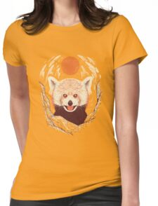 Red Panda on a Sunny Day Womens Fitted T-Shirt