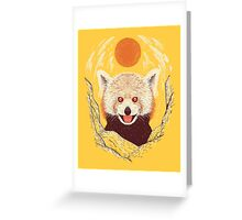 Red Panda on a Sunny Day Greeting Card