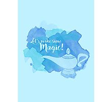 Genie Lamp - Magic Quote Photographic Print