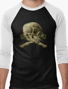 Masterpiece Skull Van Gogh Men's Baseball ¾ T-Shirt