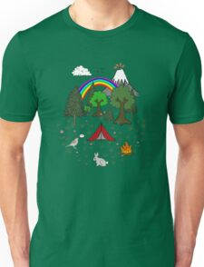 Cartoon Camping Scene T-Shirt