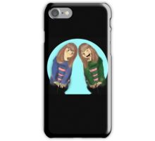Frisk and Chara iPhone Case/Skin