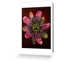 Painted Passion flower Greeting Card