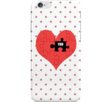 Heart Puzzle (white) iPhone Case/Skin