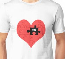 Heart Puzzle (white) Unisex T-Shirt