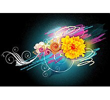 Flower Vector Photographic Print