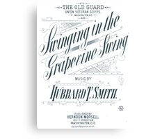 Swinging in the Grapevine Swing - White Canvas Print