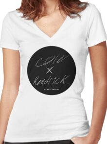 J. Cole & Kendrick Lamar - Black Friday Women's Fitted V-Neck T-Shirt