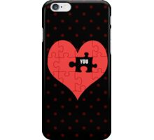 Heart Puzzle (black) iPhone Case/Skin