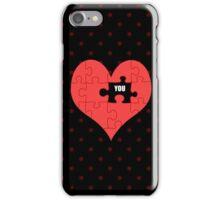 Heart Puzzle (black) iPhone Case/Skin