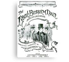 The Loyal Boston Man - White Canvas Print