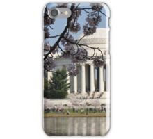The National Cherry Blossoms and the Jefferson Memorial iPhone Case/Skin