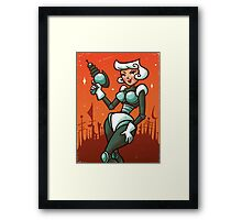 Retro Robo Girl Framed Print