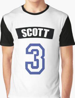 One Tree Hill Lucas Scott Jersey Number Graphic T-Shirt