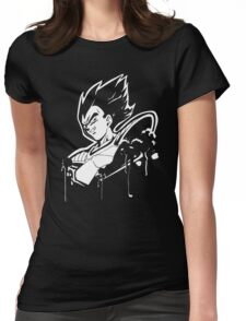 Vegeta Saiyan Womens Fitted T-Shirt