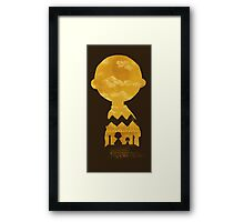 charlie brown zigzag art Framed Print