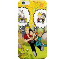 calvin dreaming with girl friends iPhone Case/Skin