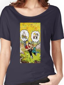 calvin dreaming with girl friends Women's Relaxed Fit T-Shirt