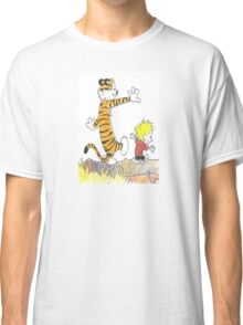 calvin hobbes back forest Classic T-Shirt