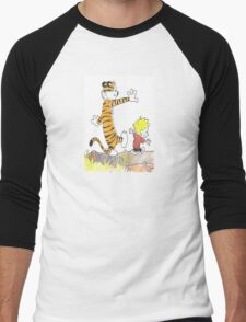 calvin hobbes back forest Men's Baseball ¾ T-Shirt