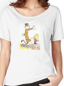 calvin hobbes back forest Women's Relaxed Fit T-Shirt