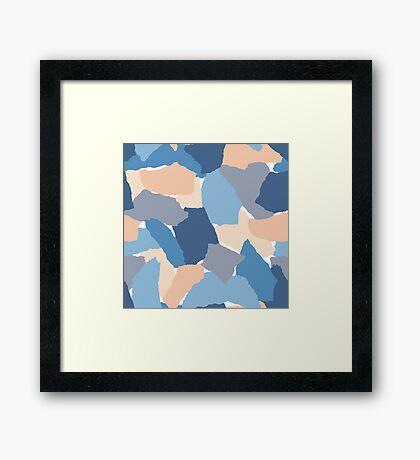 Paper Collage Framed Print