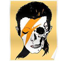 David Bowie Skull Original Aladdin Sane Artwork Poster