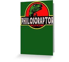 Philosoraptor Meme Funny Velociraptor Dinosaur T Shirt Greeting Card