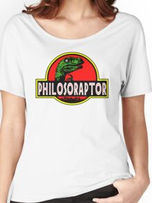 Philosoraptor Meme Funny Velociraptor Dinosaur T Shirt Women's Relaxed Fit T-Shirt