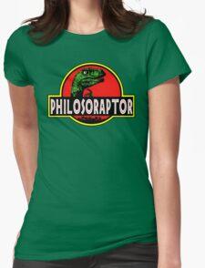 Philosoraptor Meme Funny Velociraptor Dinosaur T Shirt Womens Fitted T-Shirt