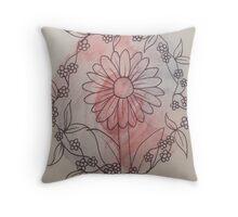 Cute daisy ring Throw Pillow