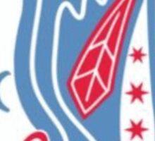 Chicago Blackhawks Flag Logo Sticker