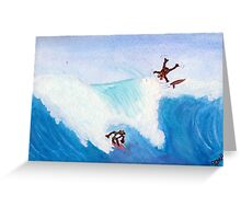 Surf Frogs by Pubsgal Greeting Card