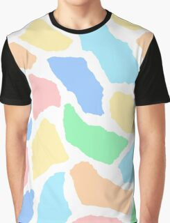 Paper Collage Art in Pastel Colours Graphic T-Shirt