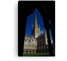 Norwich Cathedral, Cloisters Arch Canvas Print