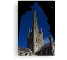 Norwich Cathedral, Tower & Spire Canvas Print