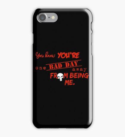 Daredevil - Punisher One Bad Day r iPhone Case/Skin