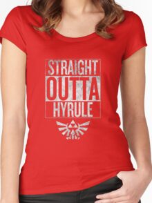 Straight Outta Hyrule Women's Fitted Scoop T-Shirt