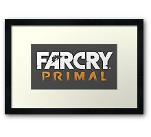 Far Cry Primal title/game title! Clothing, cups, and more! Framed Print