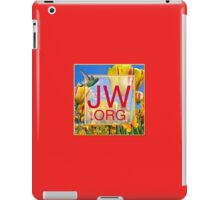 JW.org Logo With Tulips and Humingbird iPad Case/Skin