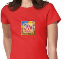 JW.org Logo With Tulips and Humingbird Womens Fitted T-Shirt